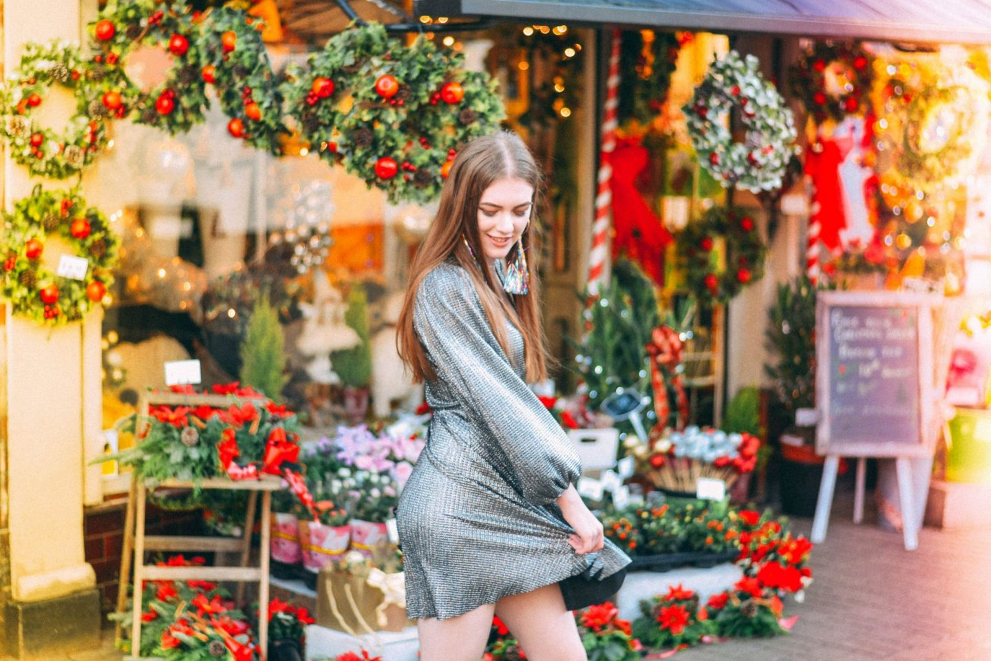 Christmas Party Lookbook #3: Sparkly Skater Dress