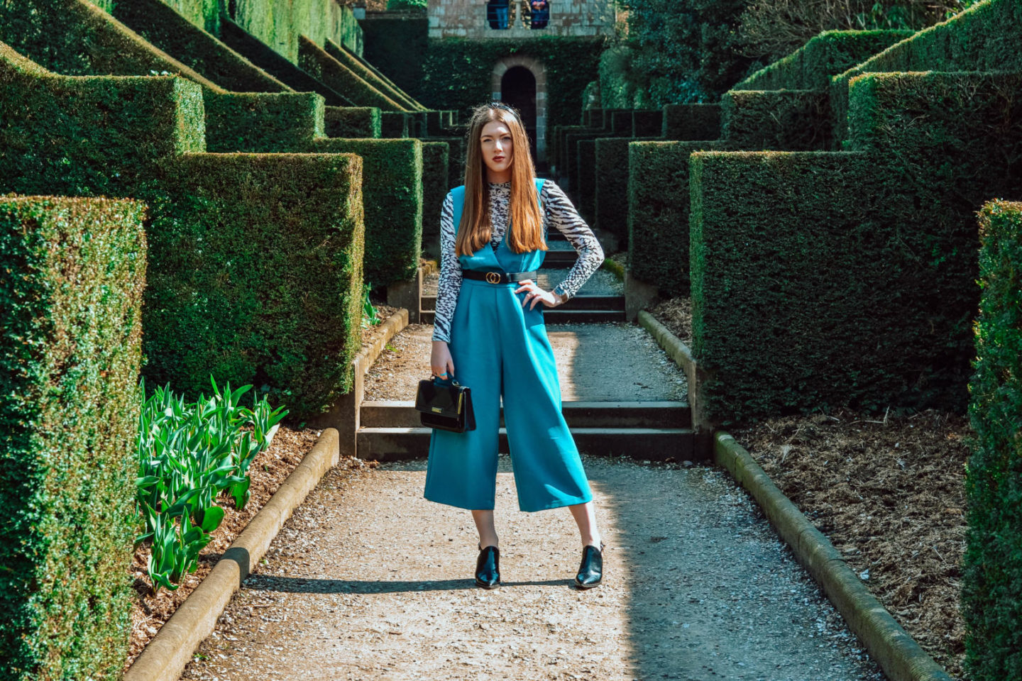 Spring outfit of the day: teal jumpsuit